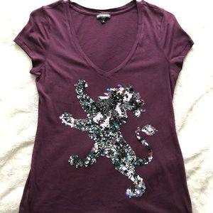 Express Burgundy T-shirt